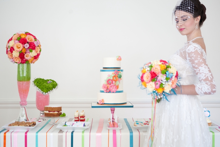Colouful 50's styled wedding shoot {London Wedding Suppliers}
