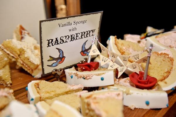 Slices of alternative london cake!