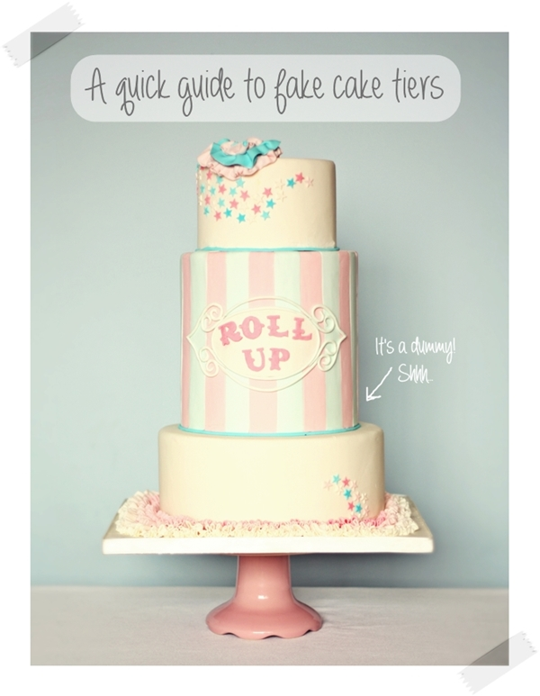 A quick guide to fake cake tiers