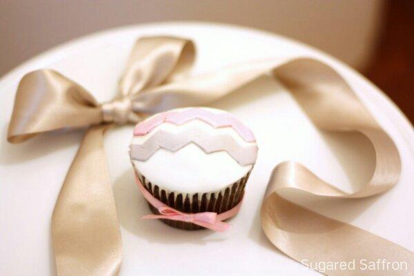Chevron cupcake