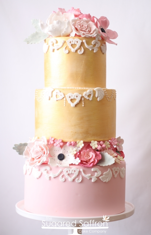 Pink and Gold Cake – Modern Baroque