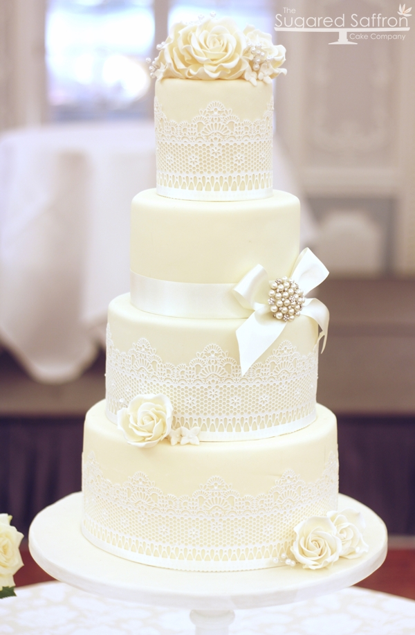 Wedding cake at the Dorchester