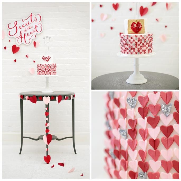 Secret Heart Wedding Cake
