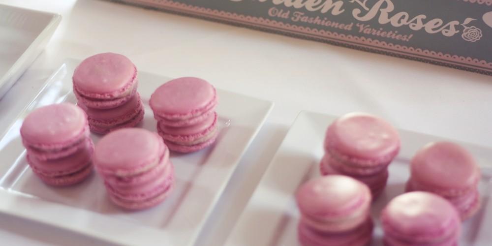 dusky pink macarons