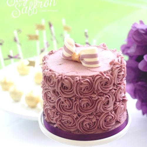 purple buttercream cake