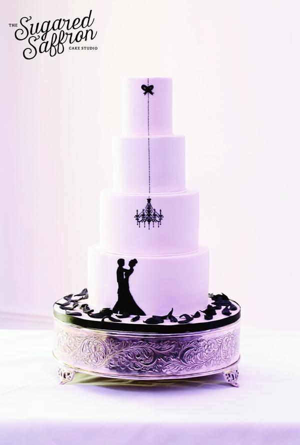 Ballroom silhouette cake