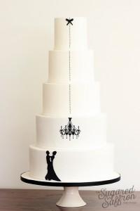 silhouette wedding cake from london cake maker