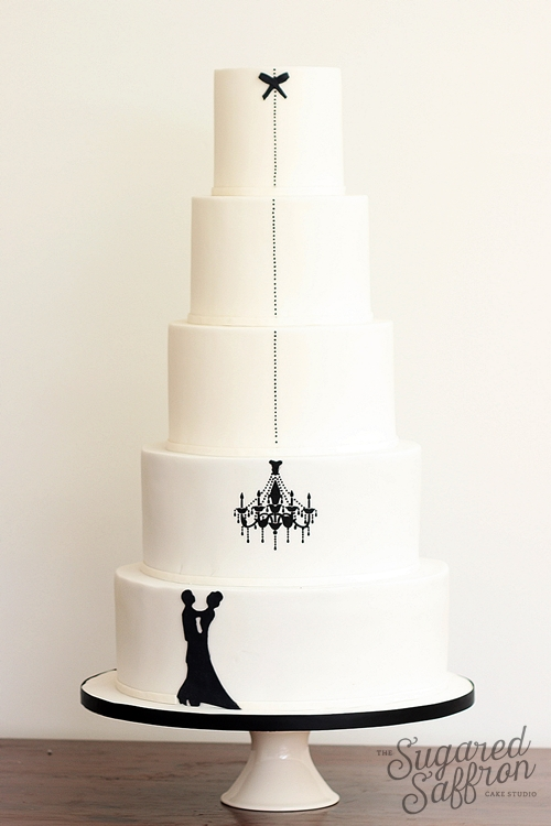 silhouette wedding cake from london cake maker