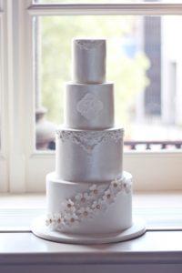 Luxury wedding cake london by sugared saffron