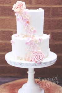 Falling hydrangeas in sugar from london wedding cake designer