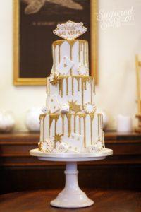 Las vegas themed wedding cake london sugared saffron