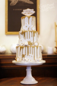 Las vegas themed wedding cake london sugared saffron