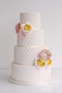 Lattice style cake from London wedding cake maker