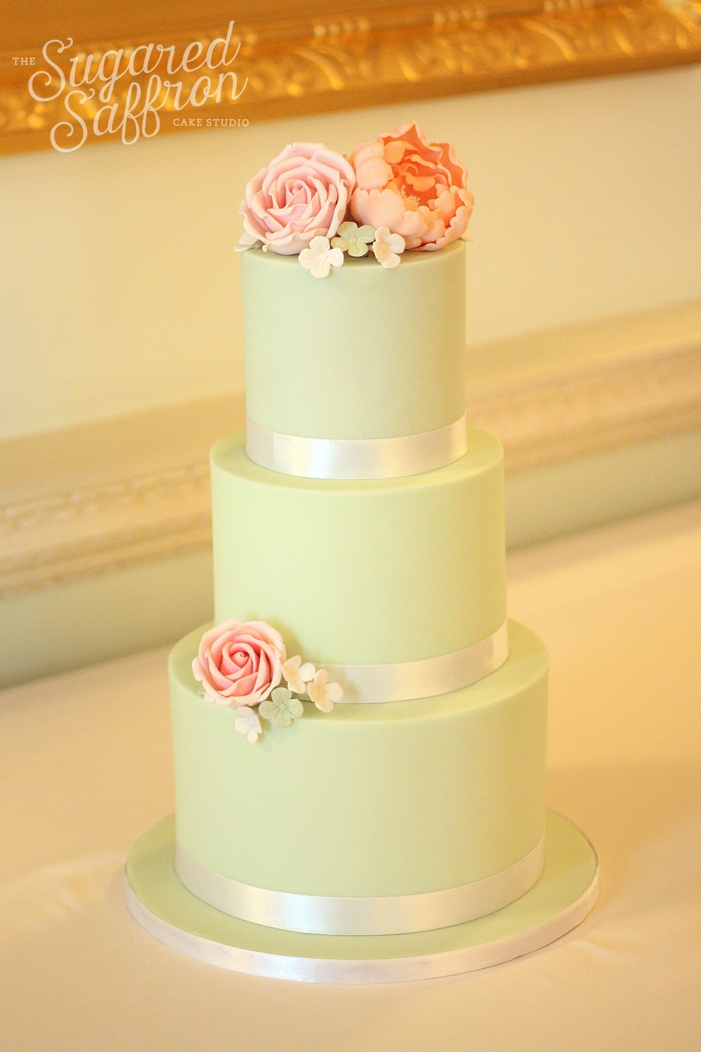 Mint wedding cake at the ritz in london