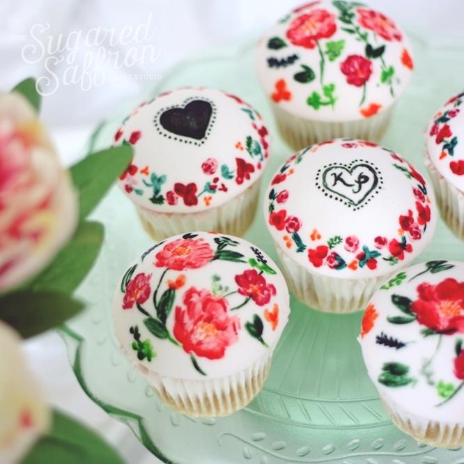 Painted Peony Cupcake Class London