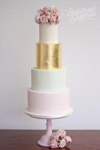 Gold leaf cake from London wedding cake maker