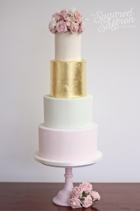 Gold leaf cake from London wedding cake maker