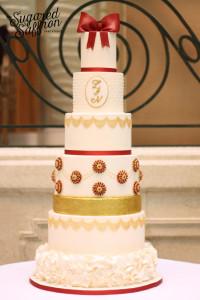 wedding cake at the waldorf london