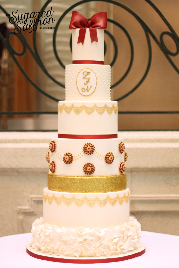 wedding cake at the waldorf london