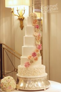 Wedding cake at the Berkeley in London by Sugared Saffron