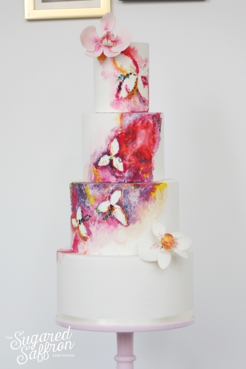 hand painted watercolour from london wedding cake maker