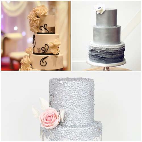 metallic wedding cakes london
