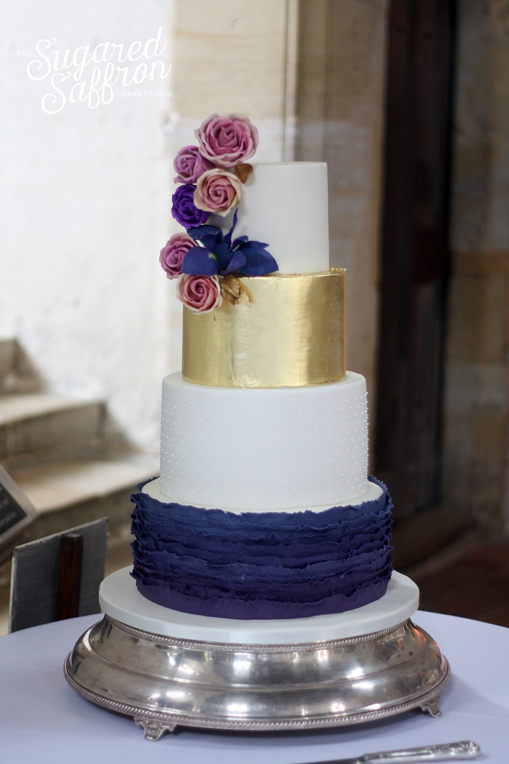 Purple and gold leaf for a historic Penshurt Place wedding
