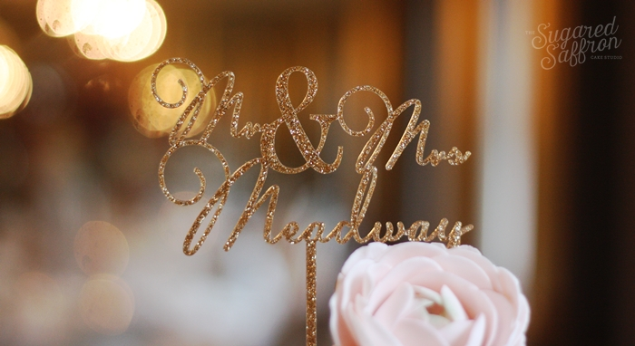Miss cake wedding cake topper