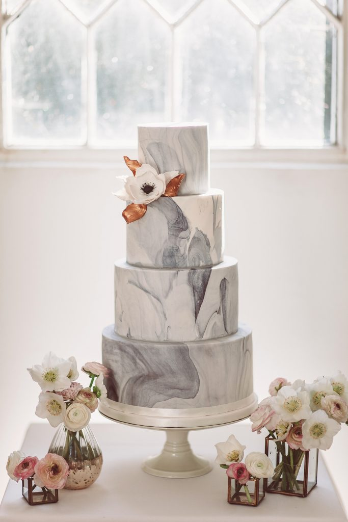 Marble wedding cake London