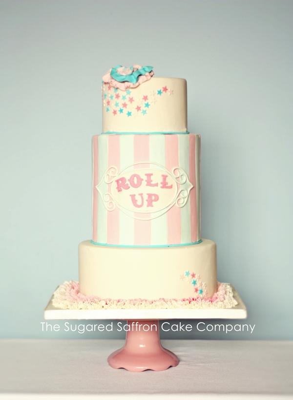 Funfair themed wedding cake