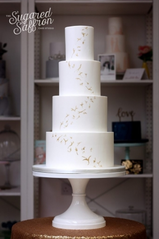 Richard Wright Style Gold wedding cake