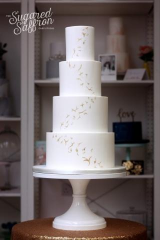 Richard Wright Style Gold wedding cake