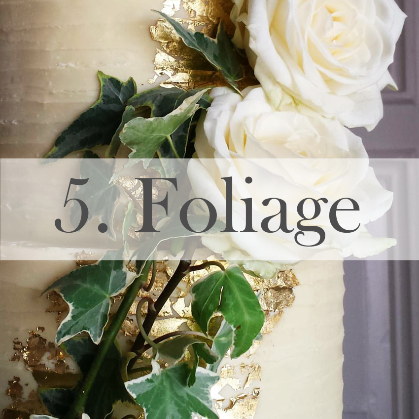 Wedding cake trend 2016 foliage