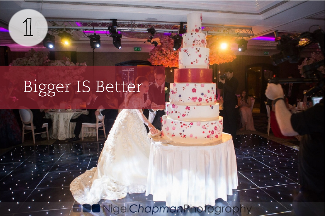 Large wedding cake London