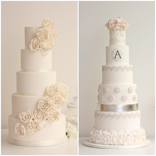 white wedding cake london trend