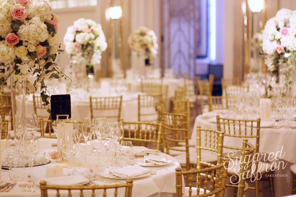 gold wedding claridges london