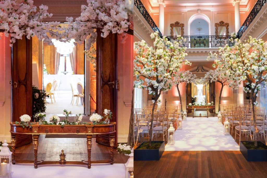 ceremony area at hedsor house showcase