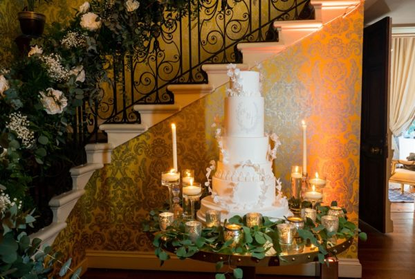 Wedding cake by sugared saffron at hedsor house showcase