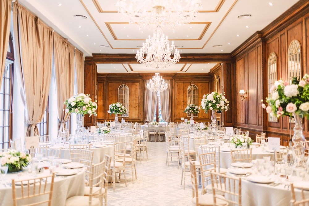 Dining room at hedsor house wedding