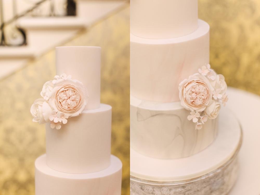 david austin roses wedding cake hedsor house