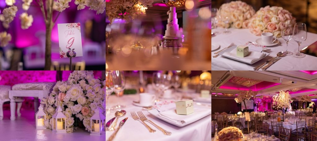 Asian wedding decor at london wedding