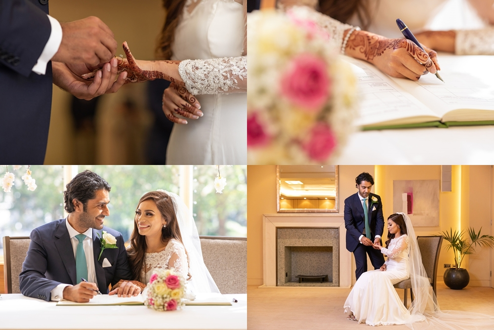 luxury asian civil wedding at jumeirah carlton
