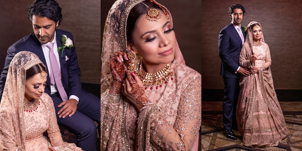 Asian wedding portraits at london wedding