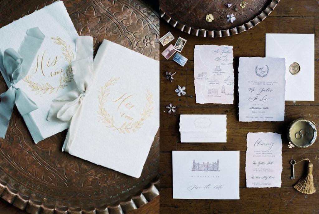 wedding stationery for destination wedding in ireland