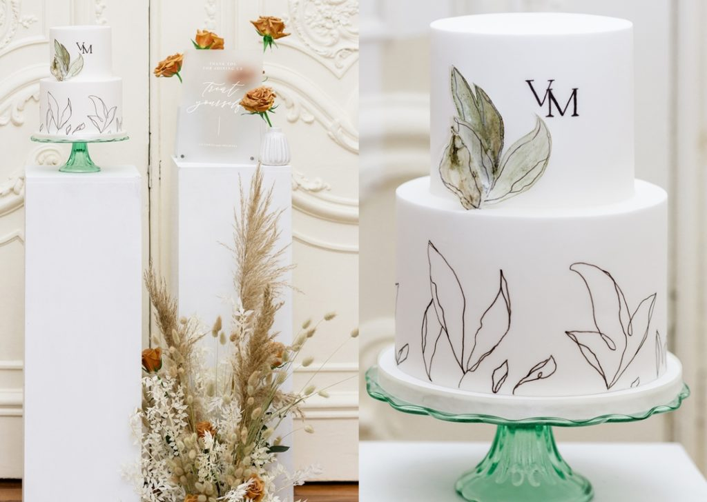 white wedding cake at carlton house terrace in london